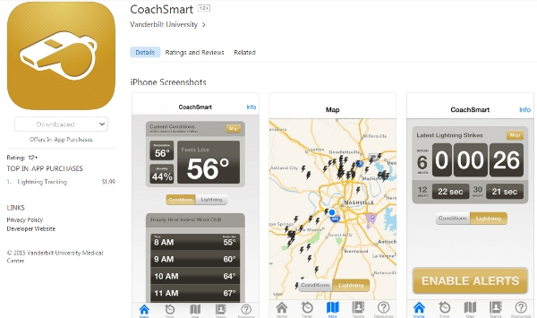 Mobil;e app for sports coaches